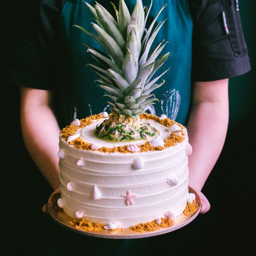 Rustic Pineapple Topped Cake