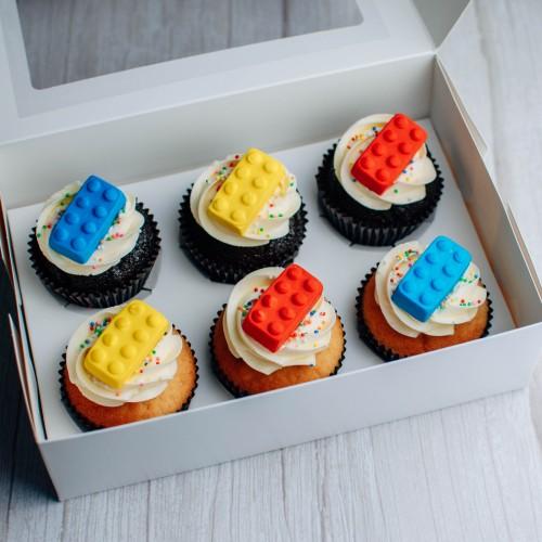 Building Blocks Cupcakes - Box of Six